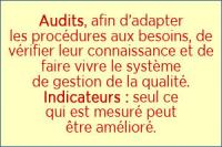Vérifier: Audits, indicateurs